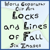 6-Pack of Locks and Lines of Fall Clip Art - Ready To Use!