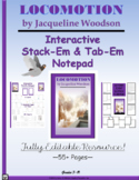 Locomotion by Jacqueline Woodson Interactive Stack-Em & Note-Pad