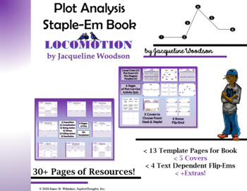 Locomotion by Jacqueline Woodson Plot Analysis Staple-Em Book