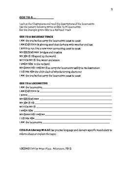 Locomotive Literature Activity Guide