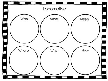 Locomotive ~ 43 pages of Common Core Activities