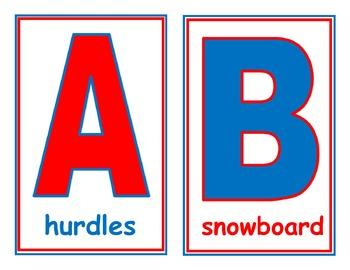 Locomotor ABC's Olympic Theme