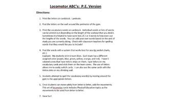 Locomotor ABCs P.E. Version