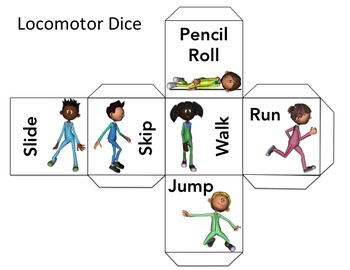 Locomotor Movement Dice: Fundamental Movement Game: Warm Up Game