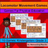 Locomotor Movement Game: 10 Fundamental Movement Phys Ed Games