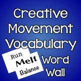 Creative Movement Vocabulary Words - Locomotor and Non-Locomotor (Plain)