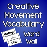 Creative Movement Vocabulary Words - Locomotor and Non-Locomotor (With Border)