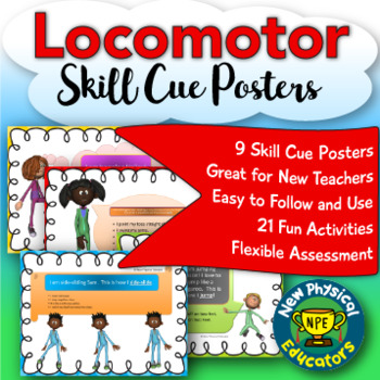 Locomotor Skill Cue Posters and Activities for Physical Education Elementary