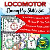 "Locomotor Skills ""Lollipop"" Fluency Set for Physical Education Elementary"