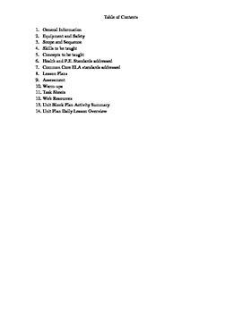 Locomotor Skills (Travels) Unit Plan