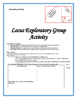 Locus Exploratory Activity with Candy