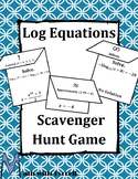 Log Equations Scavenger Hunt Game