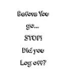 Log Off Reminder
