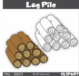 Log Pile ClipArt