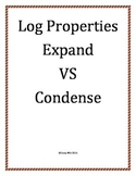 Log Properties Expand VS Condense