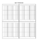 Log X and Y Graph Paper - Four per Page