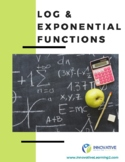 Log and Exponential Functions (worksheet & answer key)