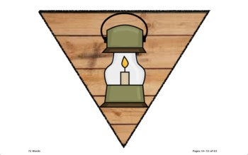 Log/Wood Pennants and Banners- Camping Style!