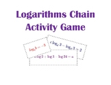 Logarithms Chain Activity/Game using Properties