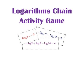 Logarithms Chain Activity Game with Properties