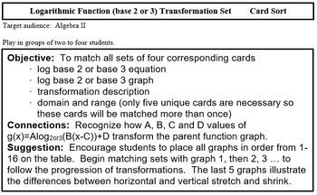 Logarithm Graph Match Base 2 & 3 (Alg 2/PreCal)