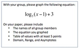 Logarithm Graphing Project