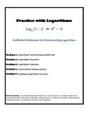 Logarithm Practice Worksheets