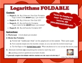 Logarithm Properties & Graphing Foldable