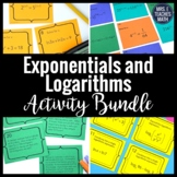 Logarithm and Exponentials Activities Bundle