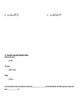 Logarithmic Differentiation Notes