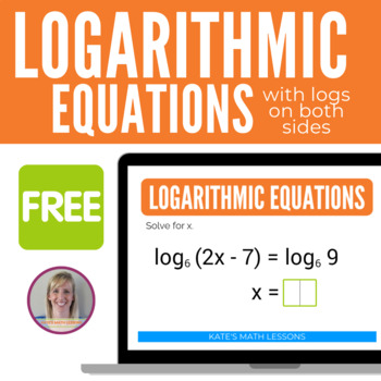 Logarithmic Equations Boom Cards