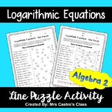 Logarithmic Equations: Line Puzzle Activity