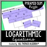 Logarithmic Equations Pyramid Sum Puzzle