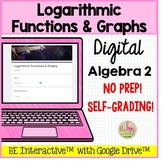 Logarithmic Functions & Graphs for Google Forms™ Distance