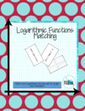 Logarithmic Functions Matching