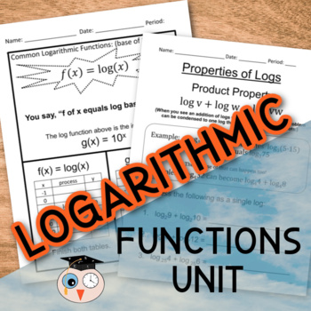 Logarithmic Functions Unit