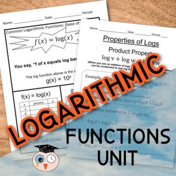 Logarithmic Functions Unit