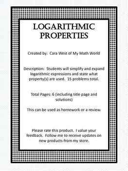 Logarithm Properties