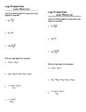 Logarithmic Properties Last Practice