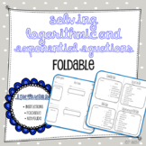 Logarithmic and Exponential Equations Foldable