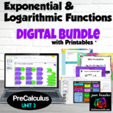 Logarithmic and Exponential Functions Digital Activity Bun