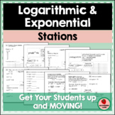 Logarithmic and Exponential Functions Stations - Graphing, Review, Practice Logs