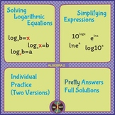Logarithmic and Exponential Solving Equations & Expression