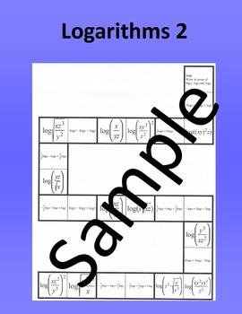 Logarithms 2 – Math puzzle
