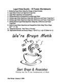 Logarithms Bundle - 10 puzzle worksheets
