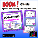 Logarithms Changing to and from Exponential form with BOOM