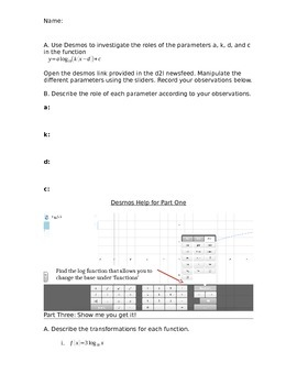 Logarithms Desmos Activity