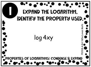 Logarithms: Expanding and Condensing