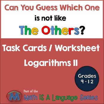 Logarithms II - Can you guess which one? - print version