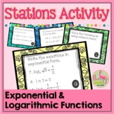 PreCalculus-Algebra 2: Logarithms Stations Activity